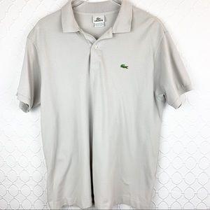LaCoste Grey Polo Shirt Size 7/XL